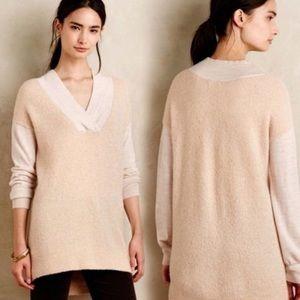 NWT Anthropologie Moth Women's Sweater Large Beige